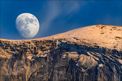 Gary Hart Photography: Winter Moon, Half Dome, Yosemite