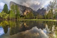 Gary Hart Photography: Breaking Light, El Capitan and Three Brothers Reflection, Yosemite