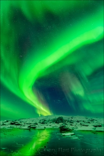 Gary Hart Photography: Northern Lights, Glacier Lagoon, Iceland