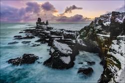 Gary Hart Photography: Sunset, Londrangar Basalt Cliffs, Iceland