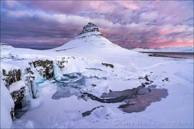 Gary Hart Photography: Frozen Sunrise, Kirkjufell, Iceland
