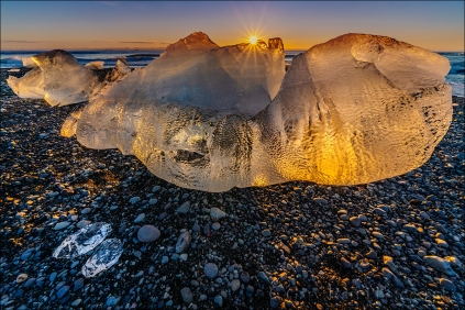 Gary Hart Photography: Glisten, Diamond Beach, Iceland