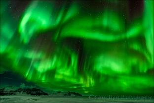 Gary Hart Photography: Electric Sky, Near Glacier Lagoon, Iceland