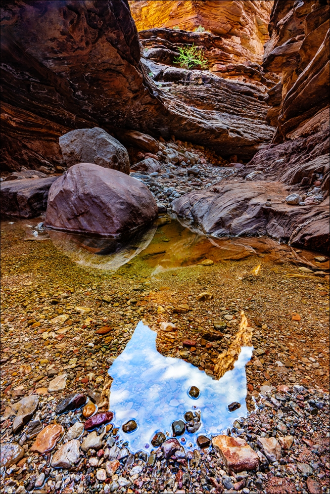 Gary Hart Photography: Sky Reflection, Blacktail Canyon, Grand Canyon