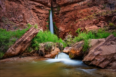 Gary Hart Photography: On the Rocks, Deer Creek Fall, Grand Canyon
