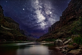 Gary Hart Photography: Dark Sky, Milky Way Above the Colorado River, Grand Canyon