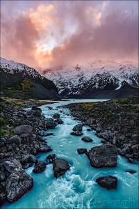 Gary Hart Photography: Sunset, Hooker Valley, New Zealand