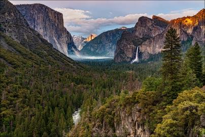 Last Light on Half Dome, Tunnel View, Yosemite