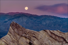 Gary Hart Photo: Moonset, Manly Beacon from Zabriskie Point, Death Valley