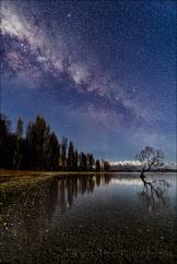 Gary Hart Photography: Milky Way and Reflection, Lake Wanaka, New Zealand