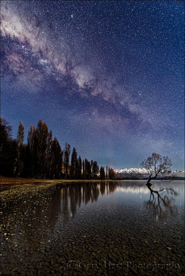 Gary Hart Photography: Milky Way and Reflection, Lake Wanaka, New Zealand