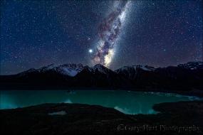Gary Hart Photography: Milky Way and Jupiter, Tasman Lake, New Zealand
