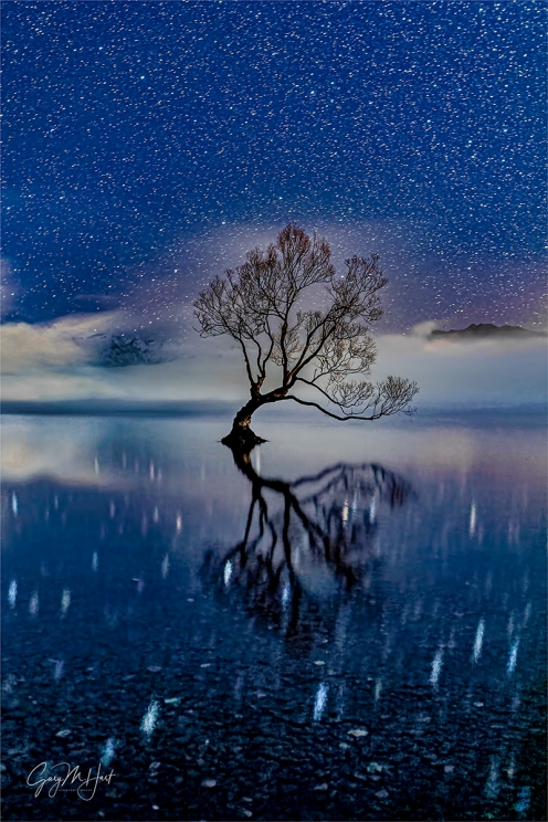 Gary Hart Photography: Starry Night, Lake Wanaka, New Zealand