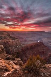 Gary Hart Photography: Sky on Fire, Hopi Point, Grand Canyon