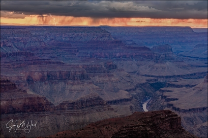 Gary Hart Photography: Distant Lightning, Hopi Point, Grand Canyon
