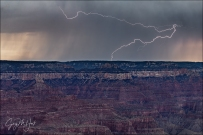 Gary Hart Photography: Serpentine Lightning, Mather Point, Grand Canyon South Rim