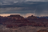 Gary Hart Photography: Lightning, Wotan's Throne and Vishnu Temple, Grand Canyon