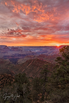 Gary Hart Photography: Sunrise Sunstar, Grandview Point, Grand Canyon