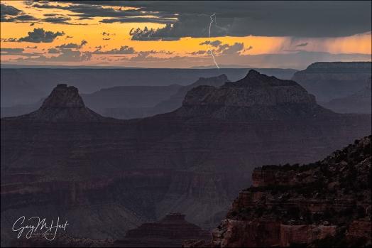 Gary Hart Photography: Sunset Lightning, Cape Royal, Grand Canyon North Rim