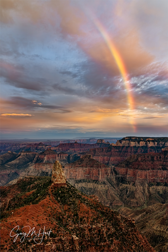 Gary Hart Photography: Surprise Rainbow, Point Imperial, Grand Canyon