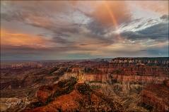 Gary Hart Photography: Rainbow at Dusk, Point Imperial, Grand Canyon
