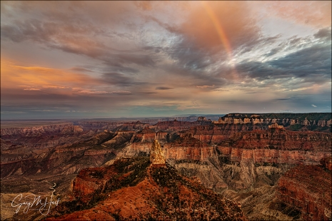 Gary Hart Photography: Rainbow at Dusk, Point Imperial, Grand Canyon