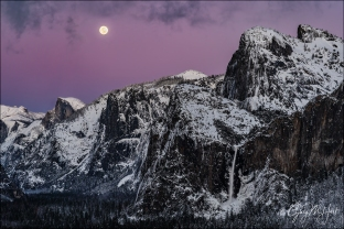 Gary Hart Photography: Nightfall, Full Moon and Yosemite Valley, Yosemite