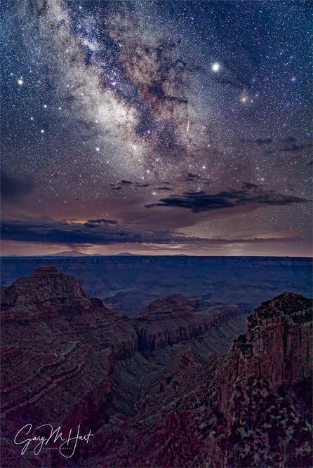 Gary Hart Photography: Monsoon Milky Way, Cape Royal, Grand Canyon
