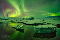 Gary Hart Photography: Aurora Reflection, Glacier Lagoon, Iceland