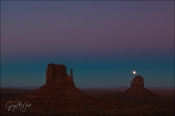 Gary Hart Photography: Moon Over East Mitten, Monument Valley