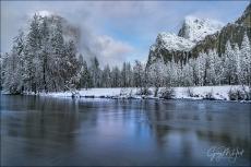 Gary Hart Photography: Winter Reflection, Valley View, Yosemite