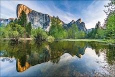 Gary Hart Photography: Spring Reflection, El Capitan and Three Brothers, Yosemite