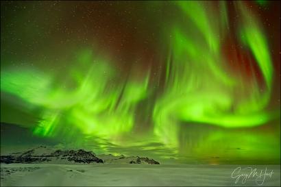 Gary Hart Photography: Dancing Sky, Aurora from Glacier Lagoon, Iceland