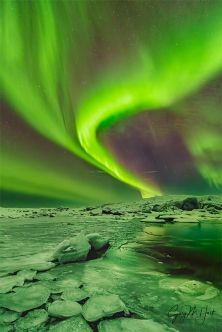 Gary Hart Photography: Green Wave, Aurora and Glacier Lagoon, Iceland
