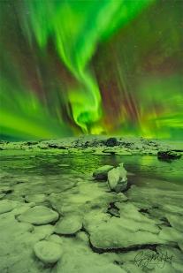 Gary Hart Photography: Aurora Spiral, Glacier Lagoon, Iceland