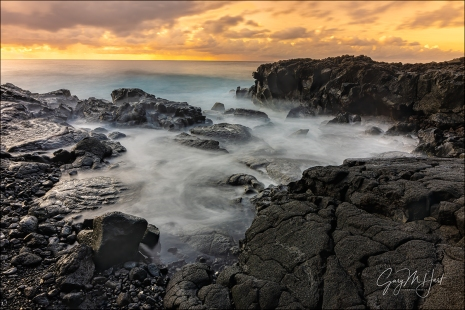 Gary Hart Photography: Golden Sunrise, Puna Coast, Hawaii Big Island