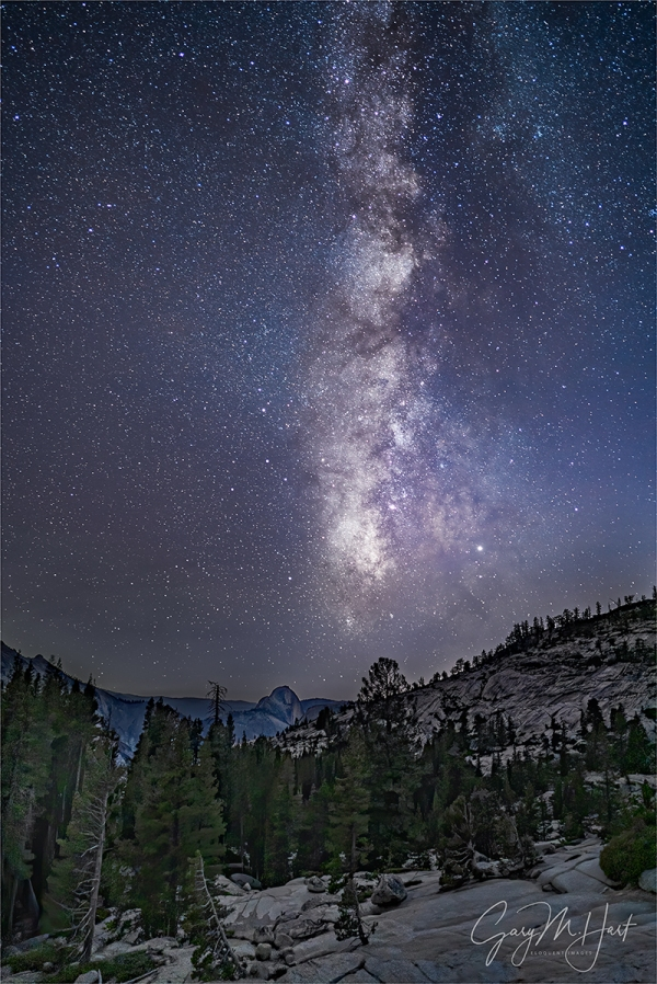 Gary Hart Photography: Yosemite Night, Half Dome and Milky Way from Olmsted Point