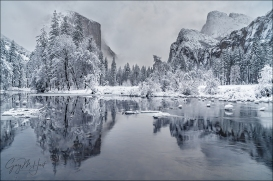 Gary Hart Photography: Winter Glaze, Valley View, Yosemite