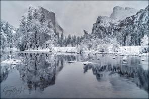 Gary Hart Photography: Winter Glaze, Valley View, Yosemite