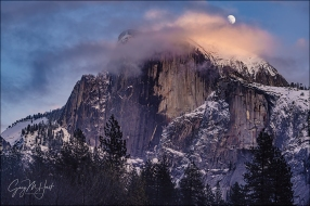 Gary Hart Photography: Moon and Clouds, Half Dome, Yosemite