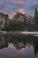 Gary Hart Photography: Winter Moon Reflection, Half Dome, Yosemite