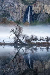 Gary Hart Photography: Winter Chill, Bridalveil Fall Reflection, Yosemite