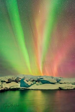 Gary Hart Photography: Neon Night, Aurora and Glacier Lagoon, Iceland