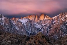 Gary Hart Photography: Dawn's Early Light, Mt. Whitney, Alabama Hills, California