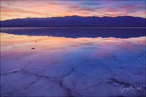 Gary Hart Photography: Sunset Reflection, Badwater, Death Valley