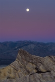 Gary Hart Photography: Moonset, Zabriskie Point and Manly Beacon, Death Valley