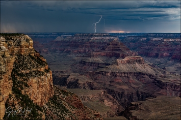 Gary Hart Photography: Lightning Strike, Grand Canyon