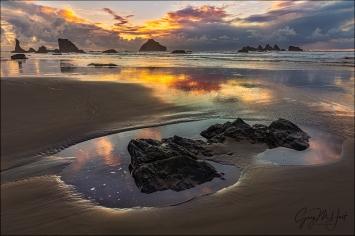 Gary Hart Photography: Islands in the Sand, Bandon Beach, Oregon