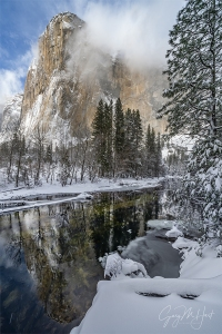 Gary Hart Photography: Winter Storm, El Capitan in the Snow, Yosemite