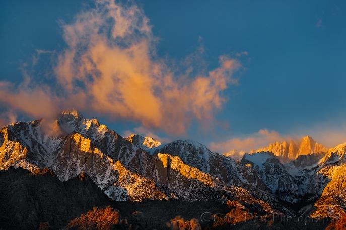 Gary Hart Photography: Sunrise, Lone Pine Peak and Mt. Whitney, Eastern Sierra